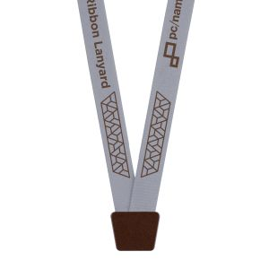 "5/8"" Aged Bronze Pillar™ Ribbon Lanyard, Bulldog Clip, 1-Color Imprint"