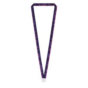 "5/8"" Silver Pillar™ Vivid Lanyard, Bulldog Clip, Full-Color Imprint"