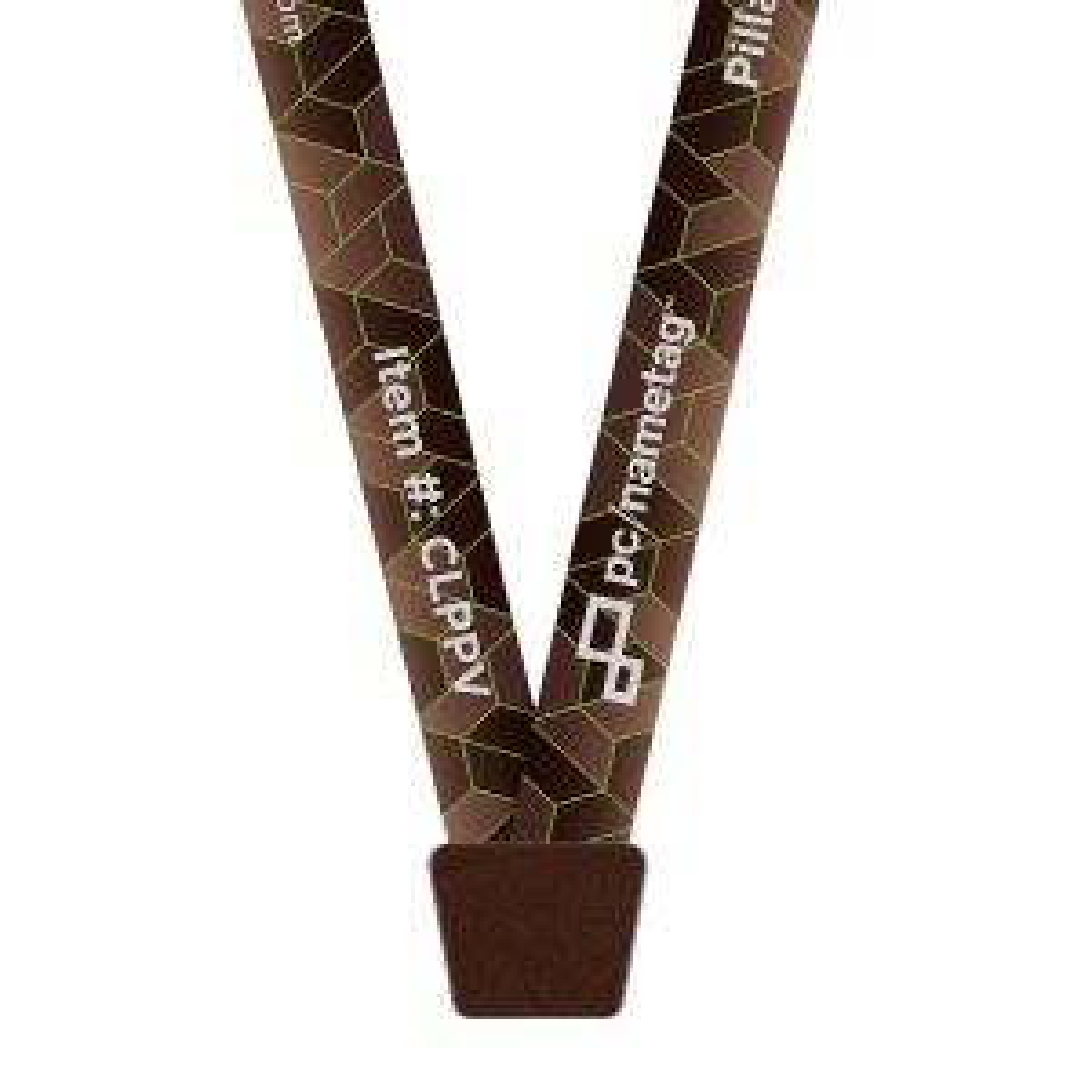 "5/8"" Aged Bronze Pillar™ Vivid Lanyard, Bulldog Clip, Full-Color Imprint"