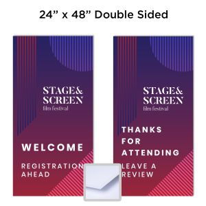 "1/2"" Double Sided 24"" x 48"" Full-Color Foam Board Sign"