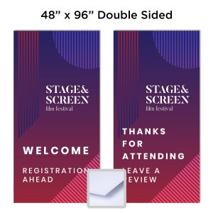"1/2"" Double Sided 48"" x 96"" Full-Color Foam Board Sign"
