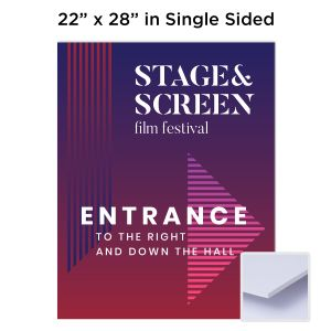 "22"" x 28"" Single Sided 3/16"" Full-Color Foam Board Sign"