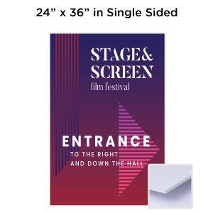 "24"" x 36"" Single Sided 3/16"" Full-Color Foam Board Sign"