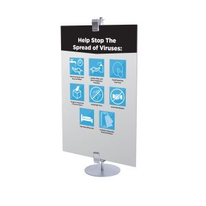 Health & Wellness Table Top Standing Sign, Stock