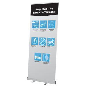 Health & Wellness Retractable Banner, Stock