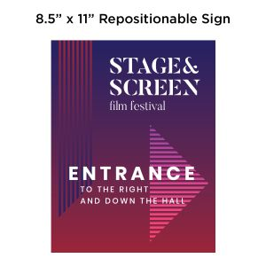"8-1/2"" x 11"" Repositionable Sign, Full-Color Imprint"