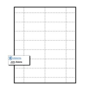 "2-15/16"" x 1-5/16"" Large Polar™ Badge Paper Name Tag Insert, 1-Color Imprint, Pack of 140 Inserts"