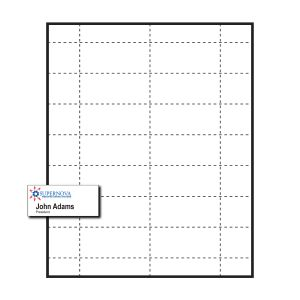"2-15/16"" x 1-5/16"" Large Polar™ Badge Paper Name Tag Insert, 2-Color Imprint, Pack of 140 Inserts"