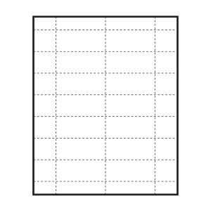 "2-15/16"" x 1-5/16"" Large Polar™ Badge Paper Name Tag Insert, Blank, Pack of 140 Inserts"