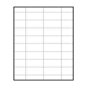 "2-9/16"" x 1-3/16"" Medium Polar™ Badge Paper Name Tag Insert, Blank, Pack of 160 Inserts"