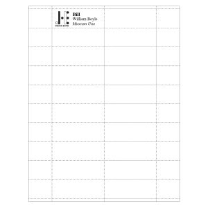 """2-15/16"""" x 1-1/16"""" Profil™ Paper Name Tag Insert, Full-Color Imprint, Pack of 180 Inserts"""