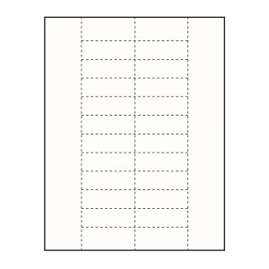 "2-1/2"" x 7/8"" Small Polar™ Badge Paper Name Tag Insert, Blank, Pack of 200 Inserts"
