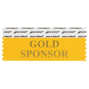 "4"" x 1-5/8"" GOLD SPONSOR stack-a-ribbon ®, Gold"