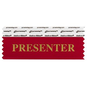 "4"" x 1-5/8"" PRESENTER stack-a-ribbon ®, Red"