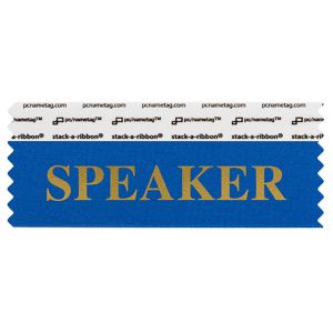 "4"" x 1-5/8"" SPEAKER stack-a-ribbon ®, Blue"