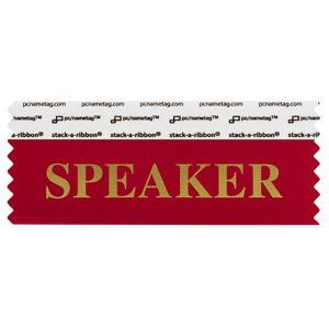 "4"" x 1-5/8"" SPEAKER stack-a-ribbon ®, Red"