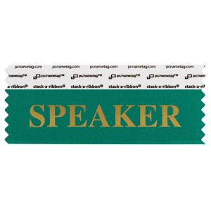 "4"" x 1-5/8"" SPEAKER stack-a-ribbon ®, Teal"