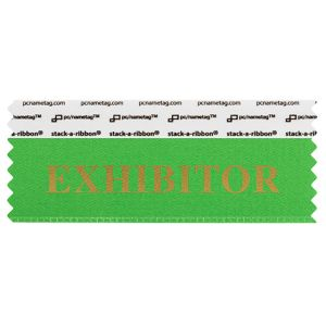 "4"" x 1-5/8"" EXHIBITOR stack-a-ribbon ®, Green"