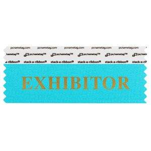 "4"" x 1-5/8"" EXHIBITOR stack-a-ribbon ®, Jewel Blue"
