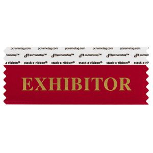 "4"" x 1-5/8"" EXHIBITOR stack-a-ribbon ®, Red"