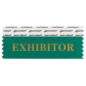 "4"" x 1-5/8"" EXHIBITOR stack-a-ribbon ®, Teal"