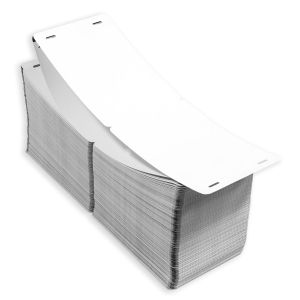 "4"" x 6"" Two-sided Tear-Resistant Fanfold Round Corners Blank Timing Mark Stock 500 sets/stack"