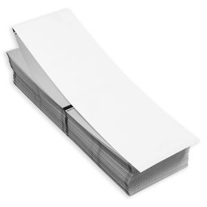 """4"""" x 3"""" RFID Two-Sided Fanfold Direct Thermal Blank Timing Mark Stock, 500 sets/stack"""