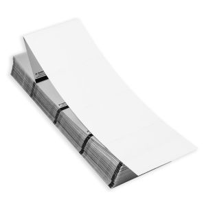 """4"""" x 3"""" RFID Fanfold Direct Thermal Blank Timing Mark Stock, 500 sets/stack"""
