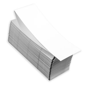 """4"""" x 6"""" RFID Two-Sided Fanfold Direct Thermal Blank Timing Mark Stock, 500 sets/stack"""