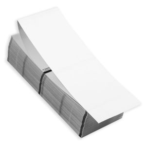 """4"""" x 6"""" RFID Fanfold Direct Thermal Blank Timing Mark Stock, 500 sets/stack"""