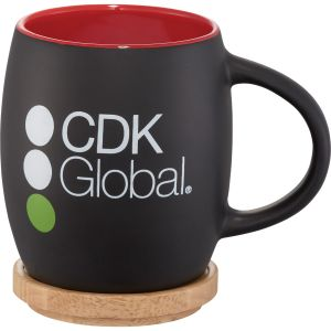 Hearth Ceramic Mug with Wood Lid/Coaster 14oz