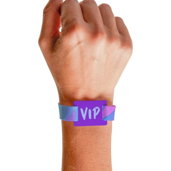 RFID Wristband with full color imprint from pc/nametag