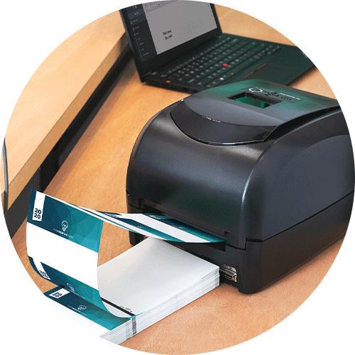 Name tag printer and on-site registration supplies from pc/nametag