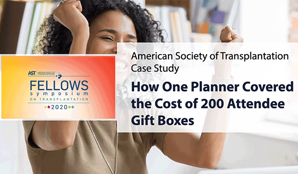 How one planner covered the cost of 200 attendee gift boxes