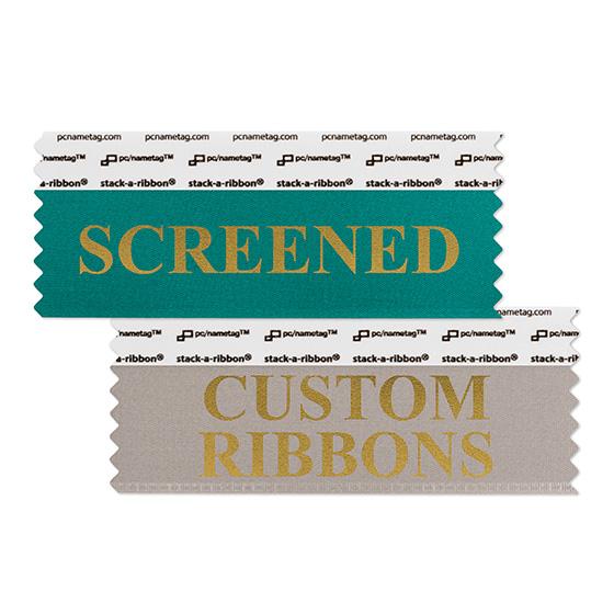 "4"" x 1-5/8"" Custom stack-a-ribbon®, 1 color"