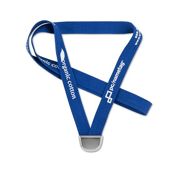 "5/8"" Bevl™ Organic Cotton Lanyard, Bulldog Clip, 1 Color Imprint"