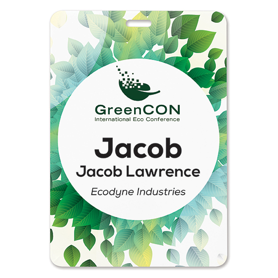 Eco Friendly Event Badge and Pass