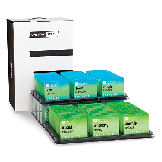 OneWay Stack™ Name Tag Organizer, Pack of 2 Cases