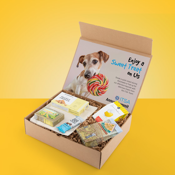 Gift box with snack items