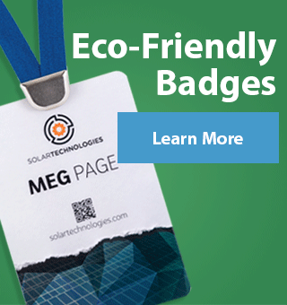 Go green with eco-friendly event badges