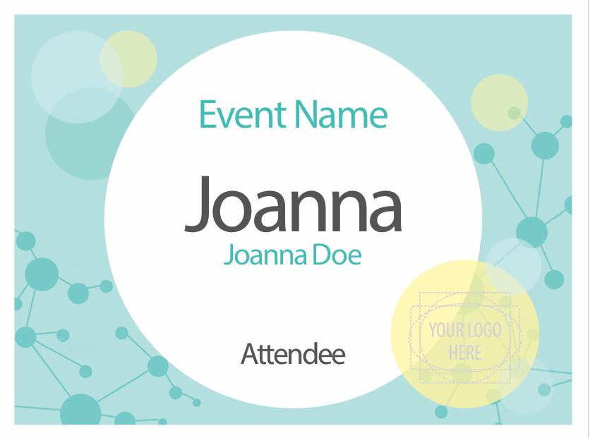 4 x 3 name badge template - free name tag designs designed for microsoft word pc