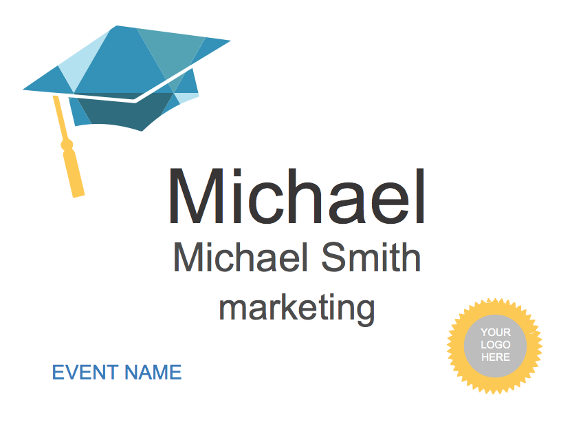Free Name Tag Designs Designed For Microsoft Word Pcnametag - Conference badge design template