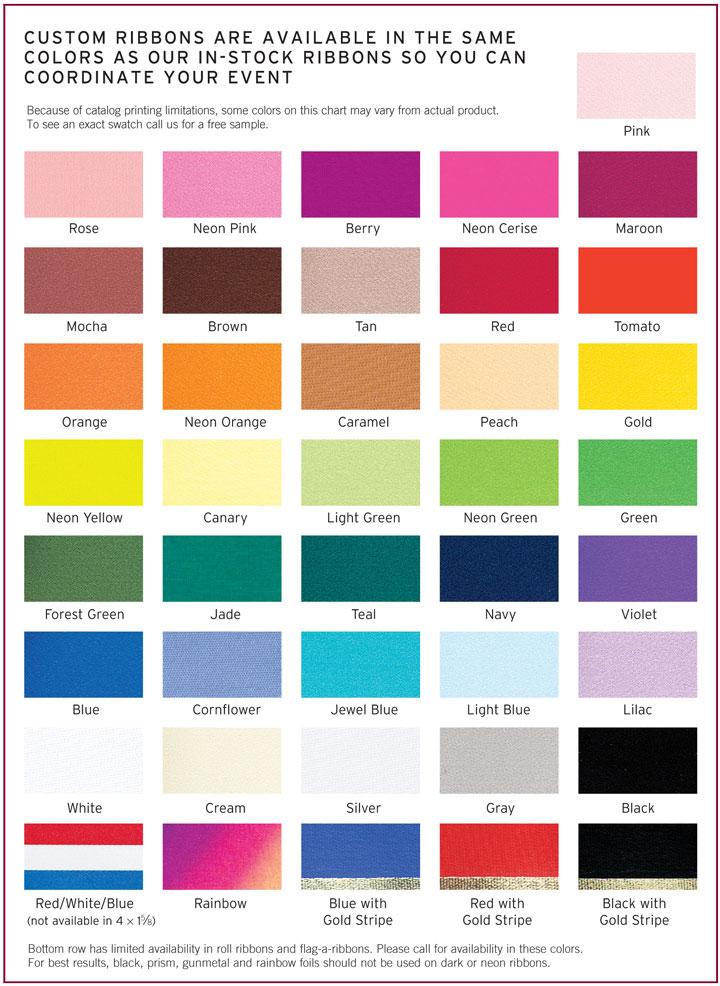 ribbon colors pc nametag