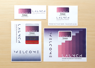 Professionally-printed conference materials